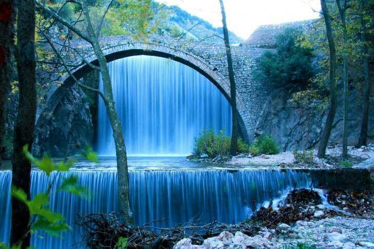 Old stone bridge... Greece