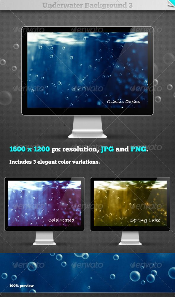 Use these atmospheric underwater backgrounds for all your under surface designs. Now with even higher quality!16001200 in resolut