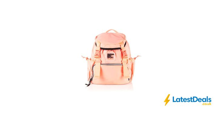 New Womens Superdry Super Sport Backpack Fluro Coral Free Delivery, £17.99 at ebay