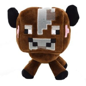 Minecraft Brown Cow Soft Plush Toy