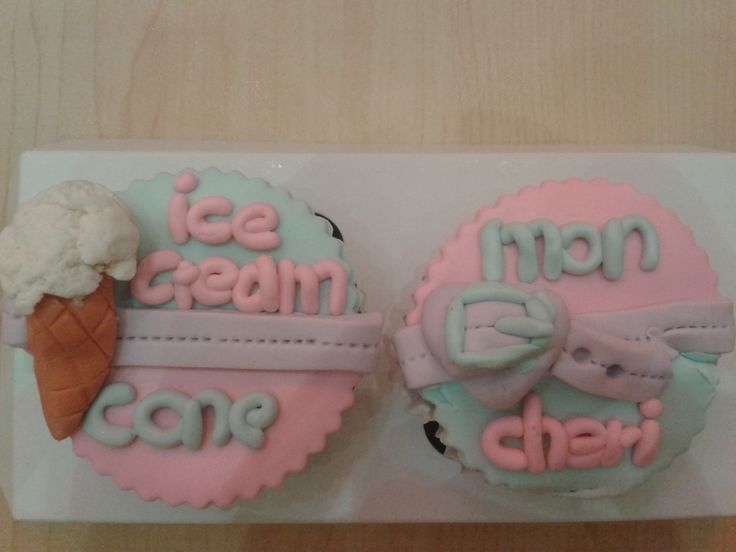 Lovely couple cupcakes for my special person, I love you forever