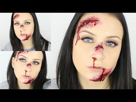 Wunden ohne Latex Schminken | DIY Kunstblut, Narbenwachs & SFX Gelatine - YouTube