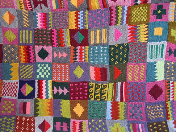 Knitting Patchwork Quilt Patterns : Best giant projects images on pinterest knit crochet