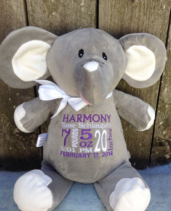 439 best personalized baby gifts images on pinterest animal monogrammed baby gift personalized baby gift elephant birth announcement by worldclassembroidery 3999 negle Gallery