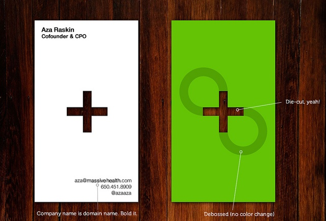 #business-card #design [ Massive Health Business Cards: Rev 2 - by Aza Raskin ]