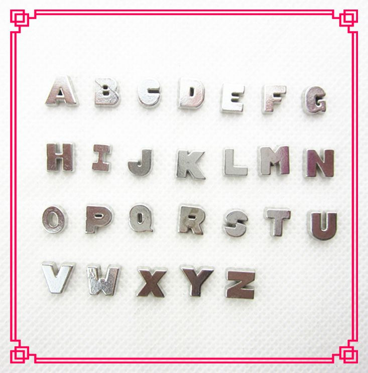Hot selling 130pcs/lot  260pcs/lot Alphabet letters A-Z floating charms living glass memory floating lockets