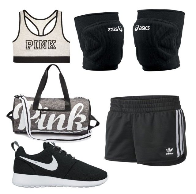 """Volleyball tryouts outfit"" by alexisnagrampa on Polyvore featuring NIKE, adidas, Victoria's Secret and Asics"