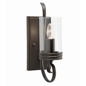 for a hallway bathroom or stairway at lowes kichler lighting diana w olde bronze arm hardwired wall sconce