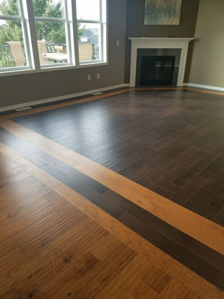 2 tone wood floors