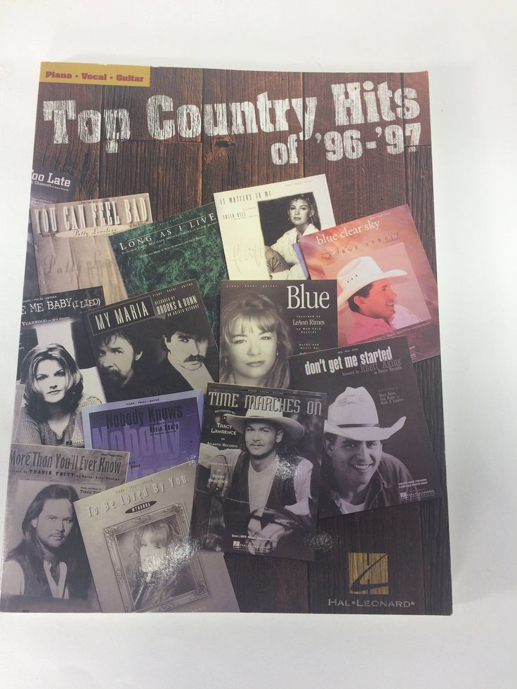 Top Country Hits 1996-97 Wynonna Patty LeAnn Faith 21 Songs Piano Vocal Guitar by KoolKoolThangs on Etsy
