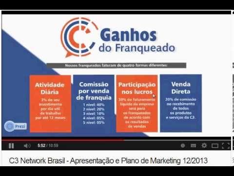 Apresentação de negocio da c3 network-brasil Venha trabalhar com a c3 network-Brasil e obtenha uma renda entra R$198.00 a R$5.000,00 mensal. link para cadastro: http://escritorio.bigc3.com/apbrasil