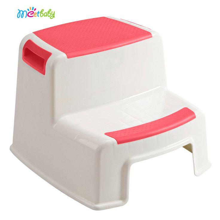2017 New Popular Two Step Potty Plastic Toilet Step Stool kids best friends step stool