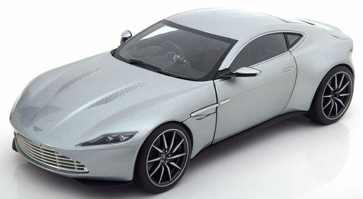 Film-Modelle Hot Wheels Elite 1:18 Aston Martin DB10 James Bond, Spectre  2015 silber  www.modelissimo.de