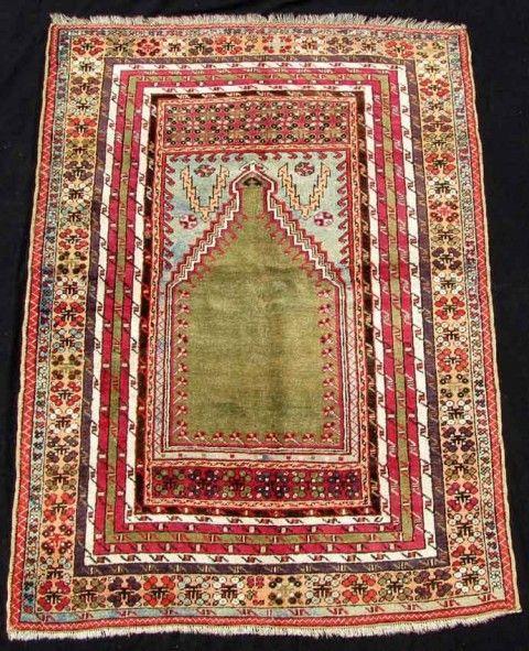 Lot 783. Kirshehir prayer rug. Anatolia, Turkey, antique, around 1800. 179 cm x 127 cm. Rugs and carpets 27 September 2014 at Auktionshaus Homm