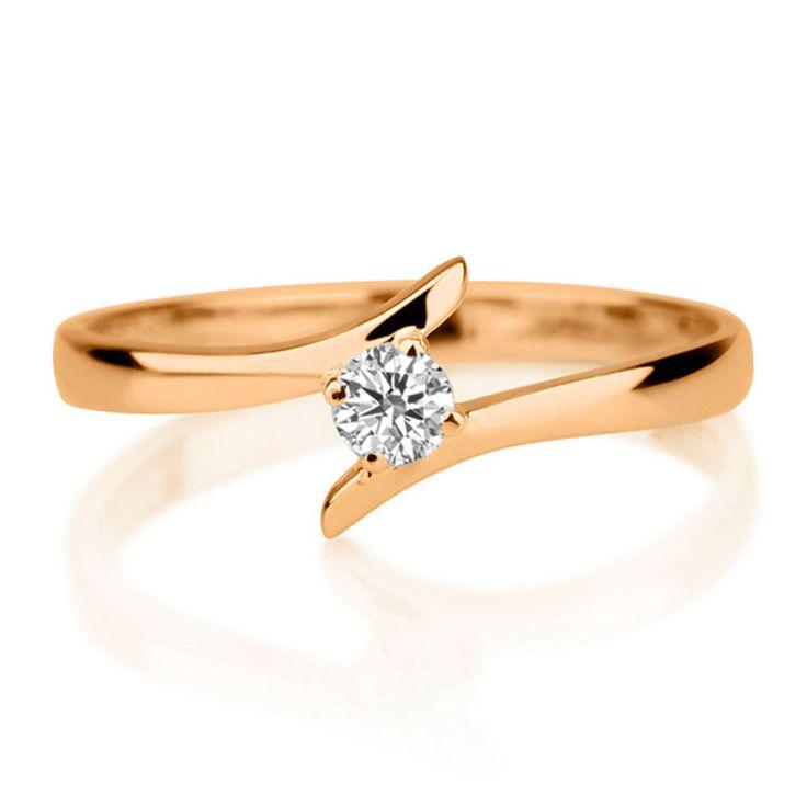 Solitär Diamantring 0.25 Karat (VS2/F) in 585er Gelbgold ab 999.00 Euro bei www.diamantring.be bestellen.
