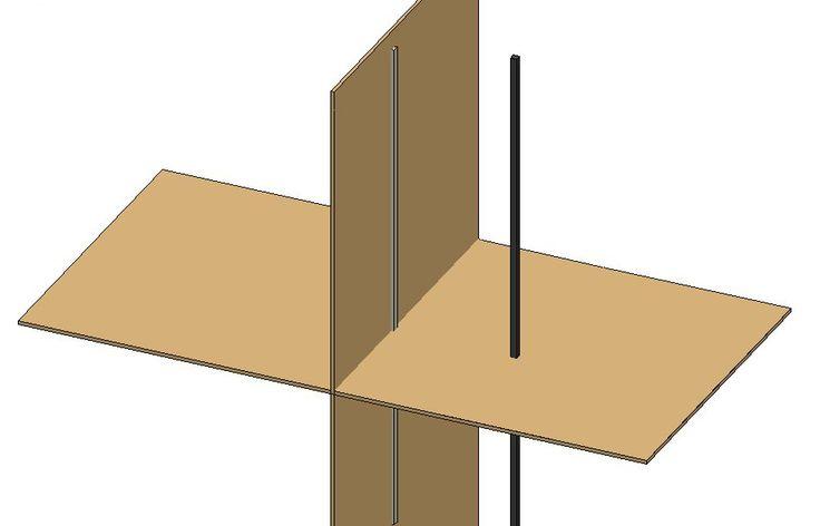 Geometria descritiva reta vertical