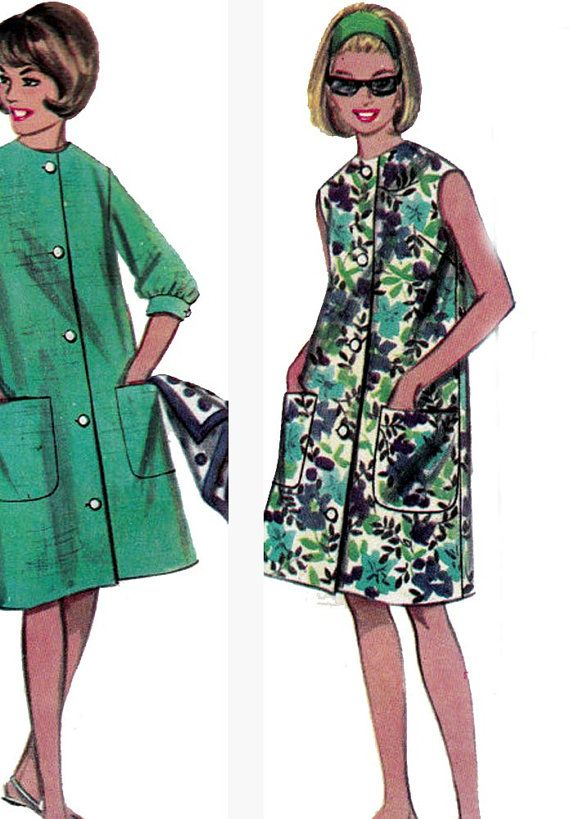 Beach Dress Sewing Pattern Butterick 3227 60s Vintage Size ...