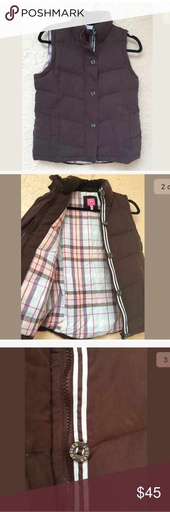 Joules quilted outdoor vest size 6 brown Super cute outdoor vest jacket brown size 6 feels amazing Joules Jackets & Coats Vests