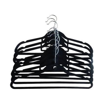 Closet Spice Velvet Suit Hangers - Set of 40 (Black) (ABS)