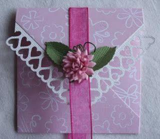 Bodils hobbyblogg: TUTORIAL, konvolutt til bordkort eller blomsterkort