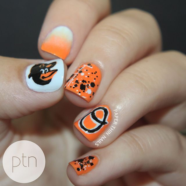 Baltimore Orioles by Paper Thin Nails #nail #nails #nailart