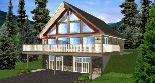 A Frame Style House Plan 99976 With 4 Bed 3 Bath 2 Car