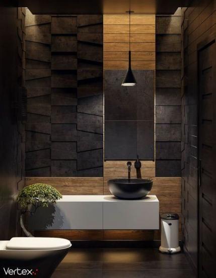 Bathroom ideas dark colors powder rooms 46+ ideas