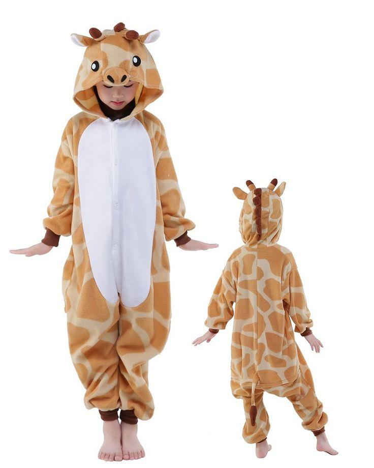 Giraffe Onesie Kids Kigurumi Polar Fleece Animal Costumes For Teens