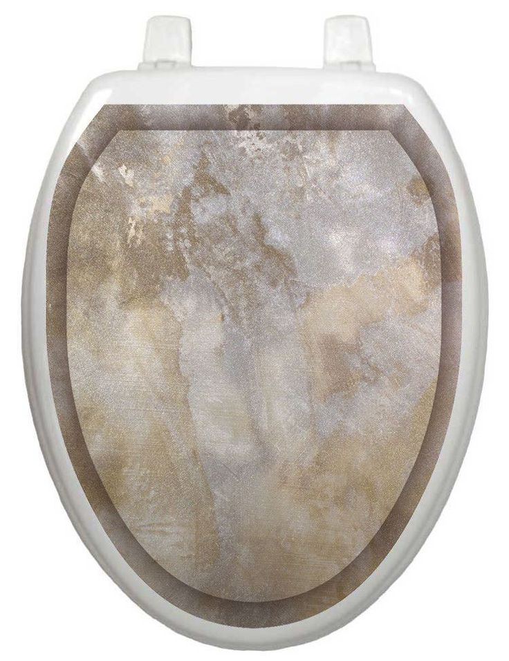 Classic Silver Stone Toilet Seat Decal