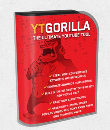 YT Gorilla is AMAZING Product Created By Chris Fox. YT Gorilla is Automated Super Cheap Traffic Finder Software to Get 5.38 Million 100% FREE Organic Views On YouTube on AutoPilot. with YT Gorilla you GET HUGE Bonus – We Are Even Going To Include a Full Spy Kit Where You Can Anaylse All your Competitor Websites, Social Media, Alexa Rank And Much More. YT Gorilla includes : Searches per month, Alerts per month, Adwords Gorilla, Domain Spy, Website Spy, Social Network Analyser, Keyword…