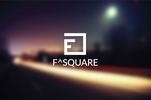 F Square Logo Template by bvdesign on Creative Market