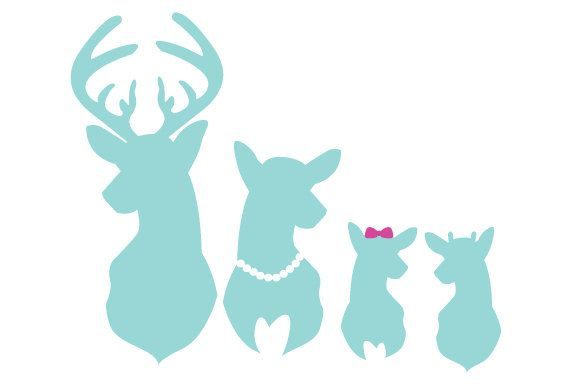 Deer Family Car Window Decal Buck Doe Spike by manderkaym on Etsy