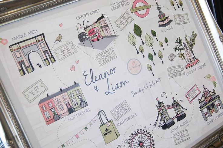 Hand drawn table plan by @madaboutpins