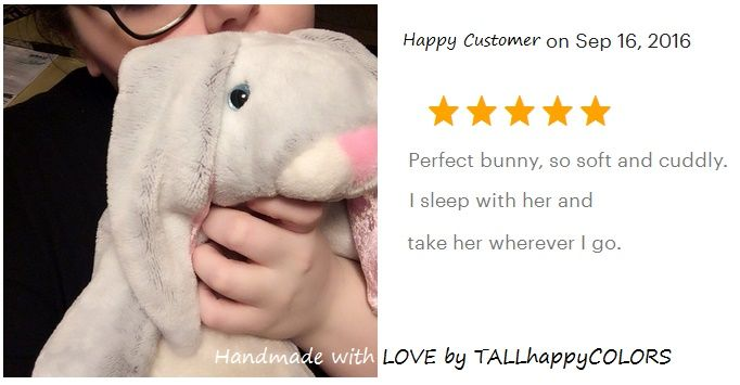 So good to see my customers happy with their cuddly cute companion http://etsy.me/2aWtwGq #handmade #bunny #rabbits #pets #custom #gift #happy #cuddly #cute  Discover more of my handmade bunny creations here >>> http://etsy.me/1TuDWG4