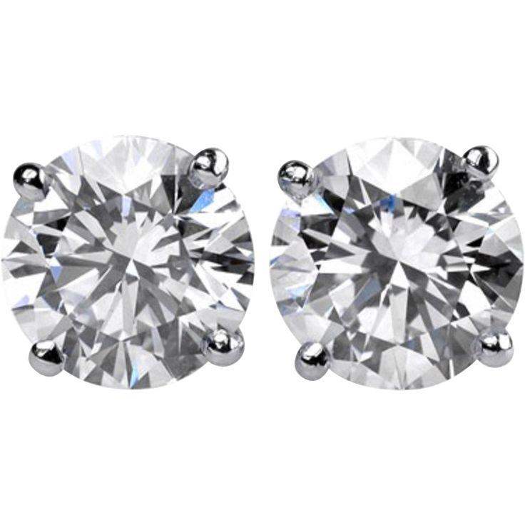 Diamond Studs Earrings 4.19 Cts.