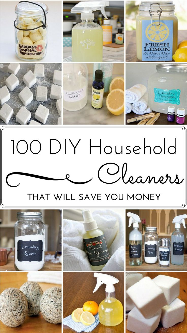 100 DIY Household Cleaner Recipes That Will Save You Money