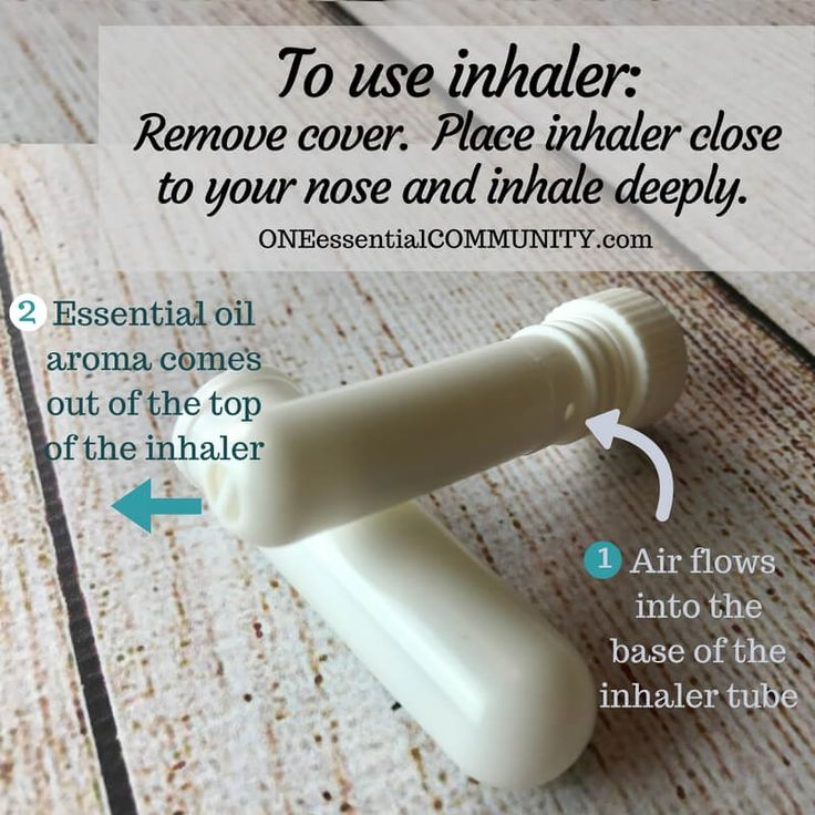 24 Essential Oil Inhaler Recipes for allergies