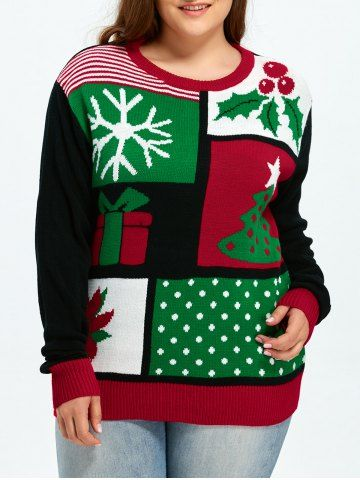 GET $50 NOW | Join RoseGal: Get YOUR $50 NOW!http://www.rosegal.com/plus-size-sweaters-cardigans/plus-size-christmas-tree-snowflake-887244.html?seid=7449595rg887244