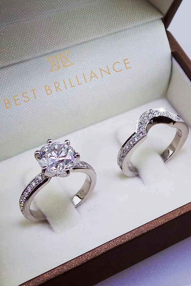 18 Best Brilliance Engagement Rings For Somebody Special ❤️ best brilliance engagement rings wedding set modern round cut pave band ❤️ See more: http://www.weddingforward.com/best-brilliance-engagement-rings/ #weddingforward #wedding #bride #engagementrings #bestbrillianceengagementrings