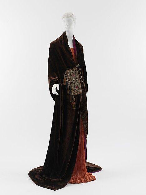 """Paris"" (image 3)   House of Poiret   French   1919    silk, wool, metallic thread   Metropolitan Museum of Art   Accession Number: 2005.207"