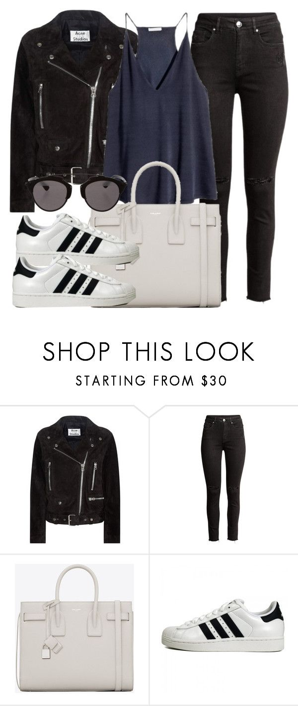 """""""Untitled #11968"""" by vany-alvarado ❤ liked on Polyvore featuring Acne Studios, H&M, Yves Saint Laurent, adidas Originals and Christian Dior"""