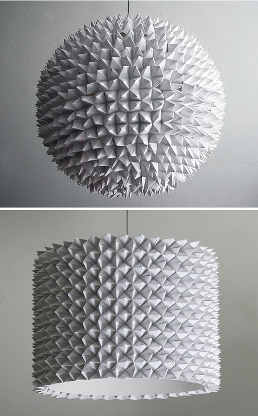 """Paper """"fleas"""" glued on to a IKEA rice lamp"""