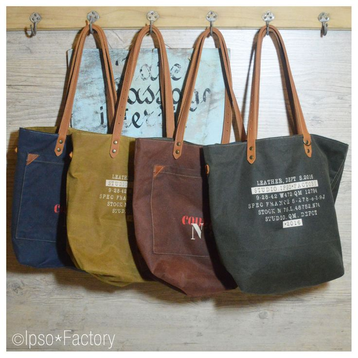 """Ipso Factory — TOTE BAG réversible TOILE """"BARBOUR"""""""
