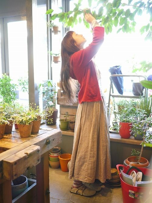 young witch tending her nursery