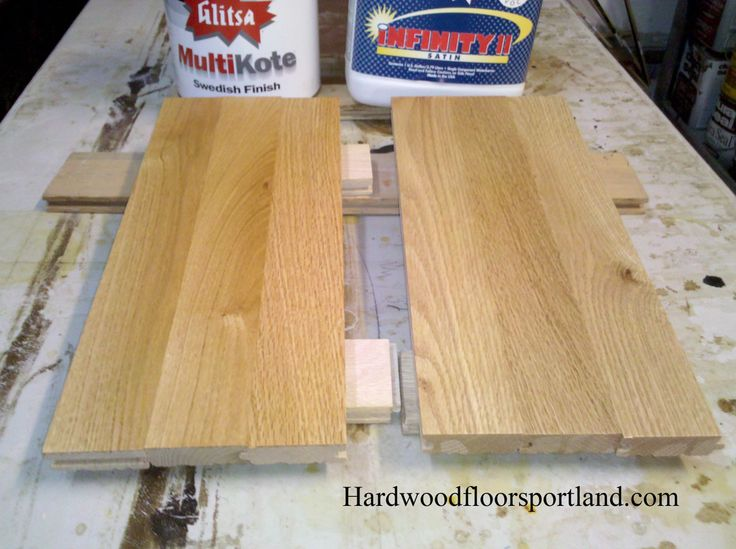 Here Are Two Samples On Select Red Oak Glitsa Multikote A