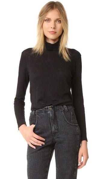 MADEWELL Whisper Cotton Turtleneck. #madewell #cloth #dress #top #shirt #sweater #skirt #beachwear #activewear