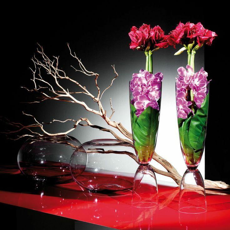 Rami manzanita, fiori artificiali vasi vetro.