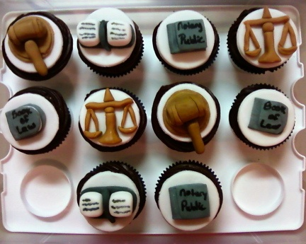 cupcakes for a law school graduation. Maybe I could find cake pop ideas for centerpieces.