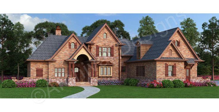 Laurel House Plan - Laurel House Plan | Archival Designs | Front Rendering - Archival Designs