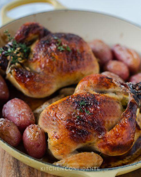 Buttermilk Brined Cornish Hens | Kitchen Confidante | Oven Roasted